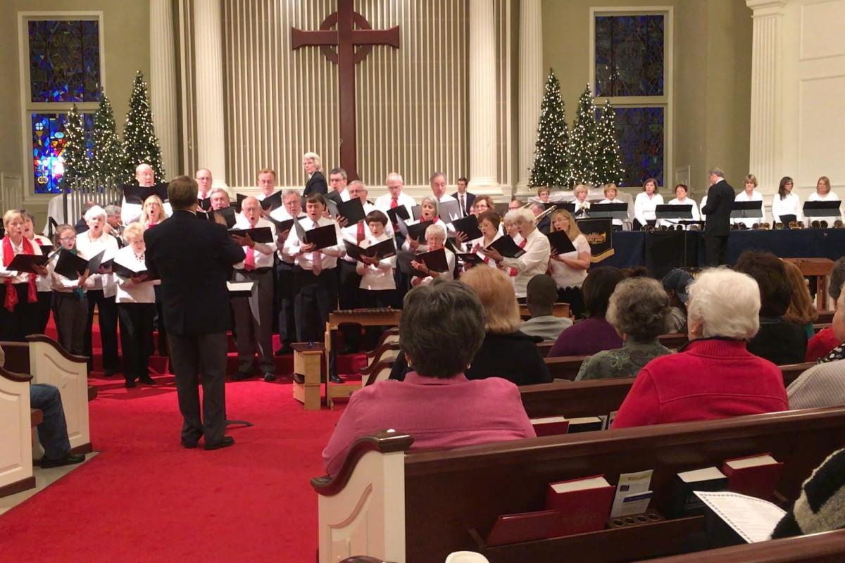 Brass Band, Chancel Choir and Handbell Choir