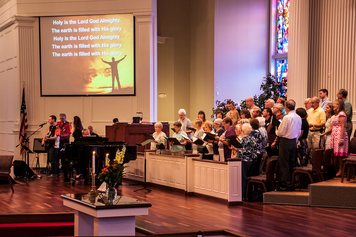 Praise Band Performing at 9:30 Service