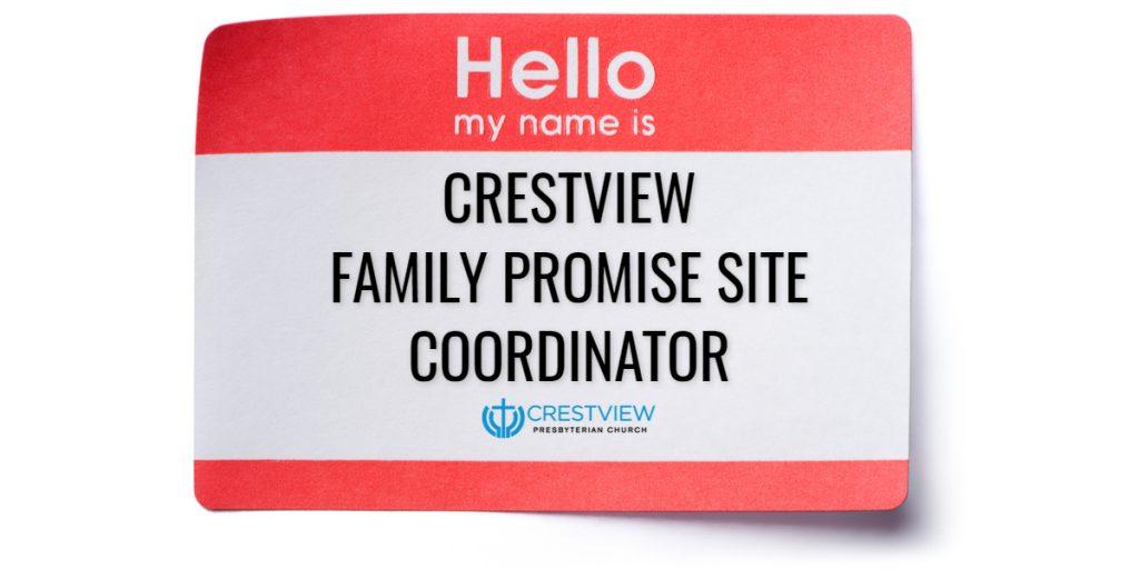 Family Promise Site Coordinator Needed